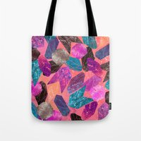 gem Tote Bags featuring Gem Pop by Nikkistrange