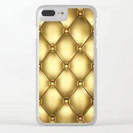 Upholstery pattern Clear iPhone Case