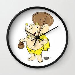 Hindu Elephant God - Ganesha Wall Clock