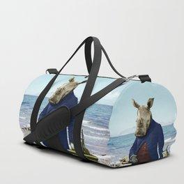 Mr. Rhino's Day at the Beach Duffle Bag