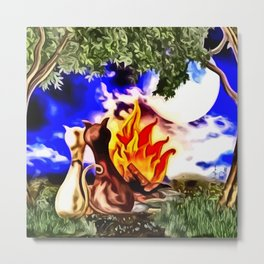 Romanze am Lagerfeuer Metal Print