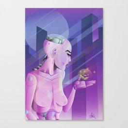 Lady cyborg Canvas Print