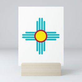 Zia Sun Turquoise Mini Art Print