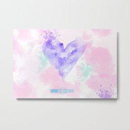 Watercolor Heart Metal Print