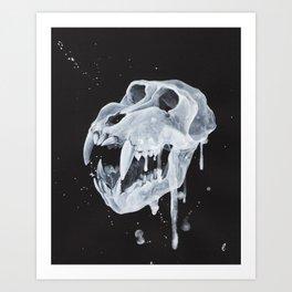 """""""Remains"""" series, VII (Mandrill skull) Art Print"""
