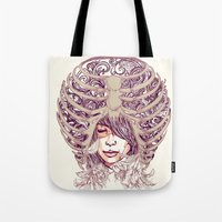 huebucket Tote Bags featuring Your Bone by Huebucket