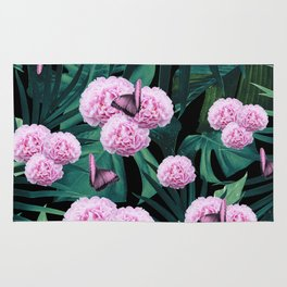 Tropical Peonies Dream #1 #floral #foliage #decor #art #society6 Rug