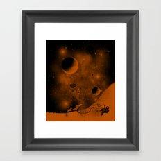 Lost in Negative Space Framed Art Print