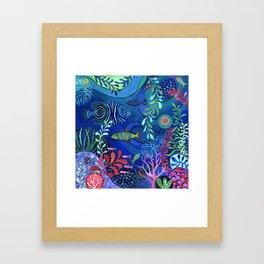 Botanical Sea Garden Framed Art Print