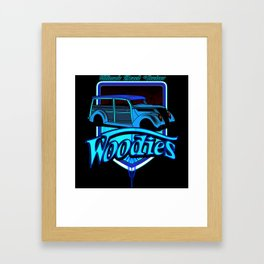 retro woodie car tee Framed Art Print