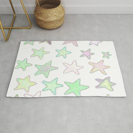 Fun Pastel Stars! Rug