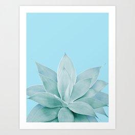 Light Blue Agave #1 #tropical #decor #art #society6 Art Print