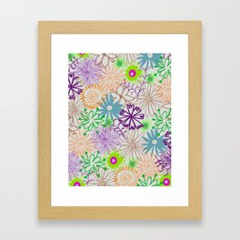 Drawn Flowers Framed Art Print