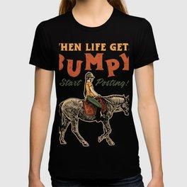 Cute Horse Lovers Gift design - Start Posting - Horse Wear T-shirt