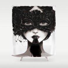La veuve affamee Shower Curtain