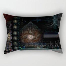 Engulfing the Iris Rectangular Pillow