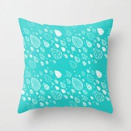 Fluvvia Aqua Throw Pillow