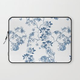 Chinoiserie in White Laptop Sleeve
