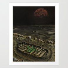 Moonscape with a dash of Irony Art Print
