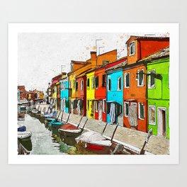 Burano, Italy Art Print