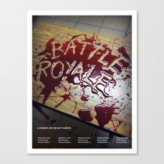 Battle Royale - Japanese film poster Canvas Print
