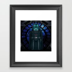 Emperor's Wrath Darth Vader Framed Art Print