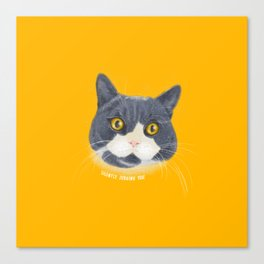 Silently Judging You_Cat Canvas Print