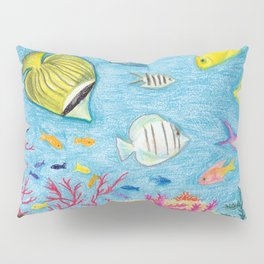 Crayon Fish #4 Pillow Sham