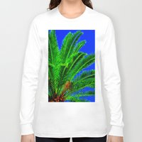 palm tree Long Sleeve T-shirts featuring Palm Tree by Phil Smyth