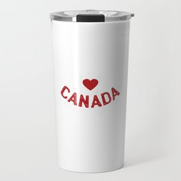 Love Canada design With Maple Leaf Saying Heart Canada Travel Mug