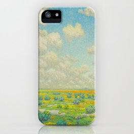 Granville Redmond Spring Antelope Valley Beautiful Landscape Painting Blue Sky Green Flower Filled F iPhone Case