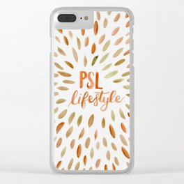 Pumpkin Spice Lifestyle Clear iPhone Case
