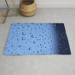 Blue Water Bubbles Rug