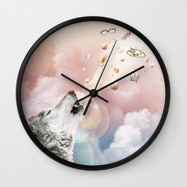 Espíritu Del Lobo Wall Clock