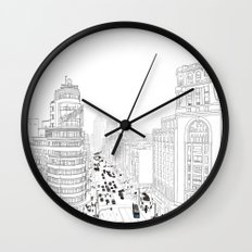 Gran Vía, Madrid Wall Clock