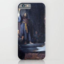 Rembrandt The Raising of Lazarus iPhone Case