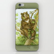 Bear on a Tree iPhone Skin