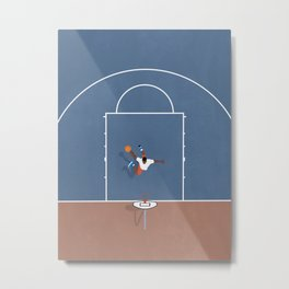 Slam Dunk | Basketball Court From Above  Metal Print