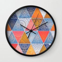 Pattern Mandala Losange Wall Clock