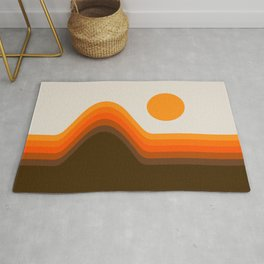 Golden Horizon Diptych - Left Side Rug