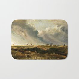John Constable - Windmills in landscape Bath Mat