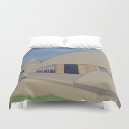 Building Of The Future From A Forgotten Past Duvet Cover