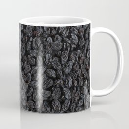 Dried grapes. Background. Coffee Mug