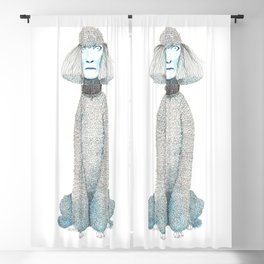 Weird poodles - don't worry, be happy Blackout Curtain
