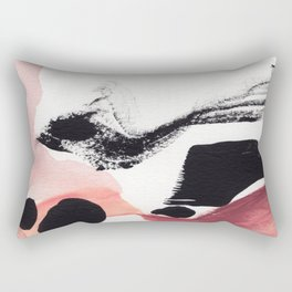 Blush Abstract Art Rectangular Pillow
