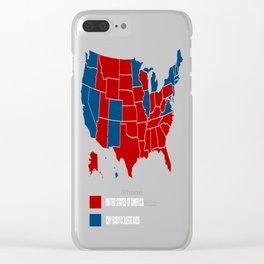UNITED STATES OF AMERICA ELECTION MAP SHIRT Clear iPhone Case