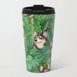 Pomsky Garden Metal Travel Mug