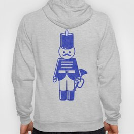 French toy soldier with bugle, drawing with letterpress effect. Hoody