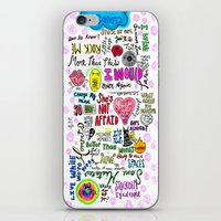 1d iPhone & iPod Skins featuring 1D songs  by drawbyana