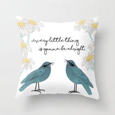 Three Little Birds, Part 2 Throw Pillow